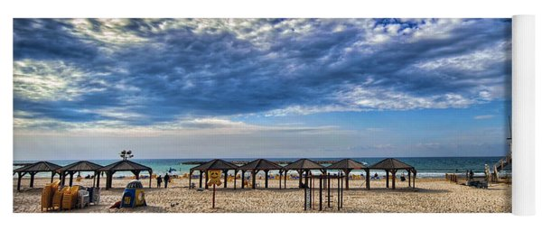 a good morning from Jerusalem beach  Yoga Mat