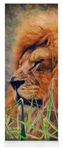 A Lion Portrait Yoga Mat