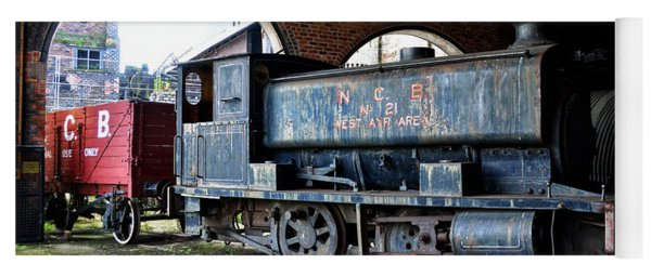 A Locomotive At The Colliery Yoga Mat