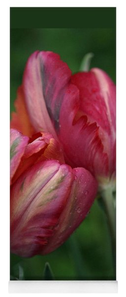A Pair Of Tulips In The Rain Yoga Mat
