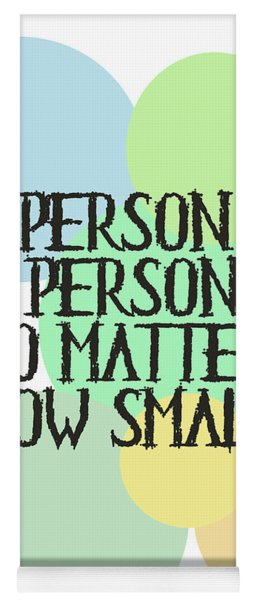 A Person's A Person - Dr Seuss Yoga Mat