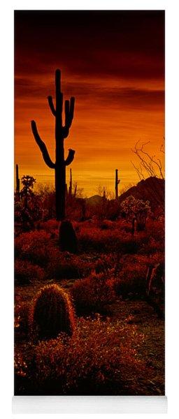 A Red Desert  Yoga Mat