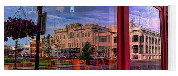 A Reflection Of Wausau's Grand Theater Yoga Mat
