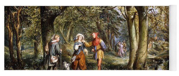 A Scene From As You Like It Rosalind Celia And Jacques In The Forest Of Arden Yoga Mat