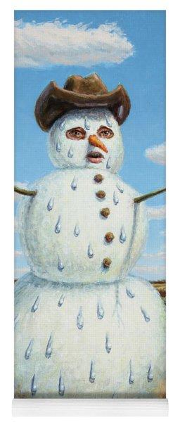 A Snowman In Texas Yoga Mat