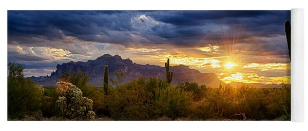 A Sonoran Desert Sunrise Yoga Mat