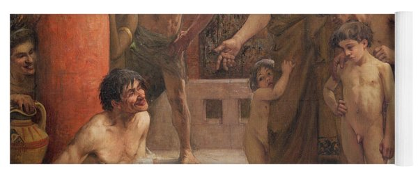 A Spartan Points Out A Drunken Slave To His Sons Yoga Mat