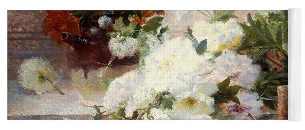 A Still Life With Autumn Flowers Yoga Mat