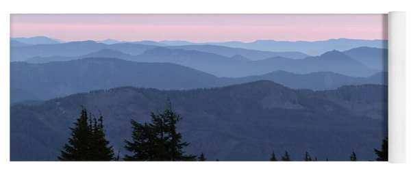 A View From Timberline Yoga Mat