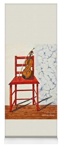 A Violin In Repose Watercolor Painting Art Yoga Mat