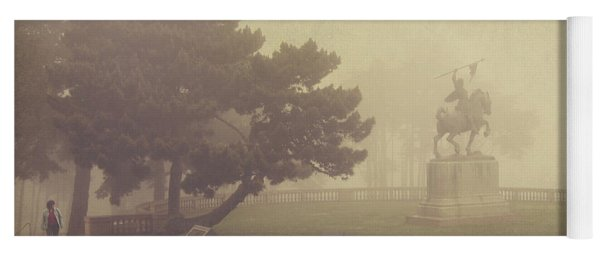 A Walk In The Fog Yoga Mat