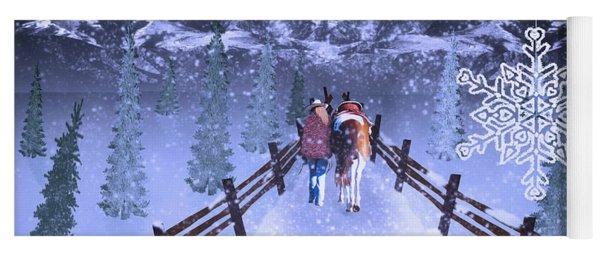 A Walk In The Snow 2 Yoga Mat
