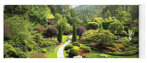 A Walk Through The Paradise Gardens Yoga Mat