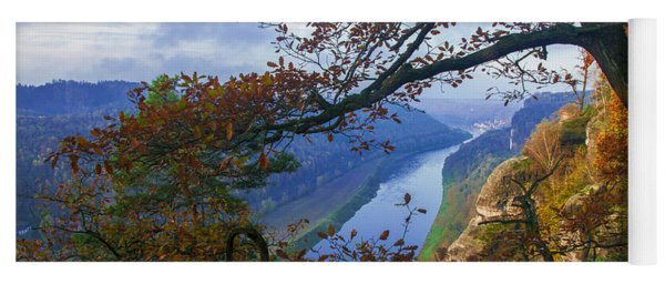 A Window To The Elbe In The Saxon Switzerland Yoga Mat