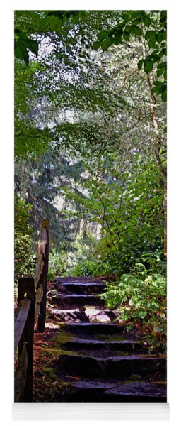 A Wooded Path Yoga Mat