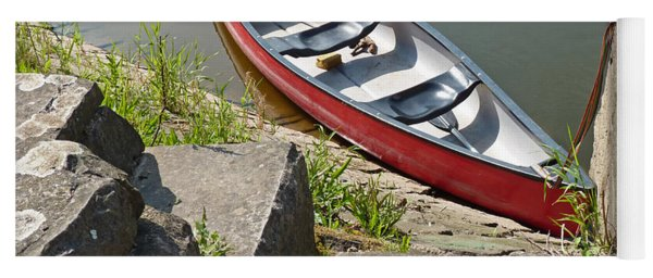 Abandoned Boat At The Quay Yoga Mat