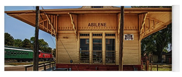 Yoga Mat featuring the photograph Abilene Station by Mary Jo Allen