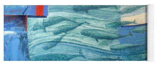 About 120 Western Grey Whales Wc On Paper Yoga Mat