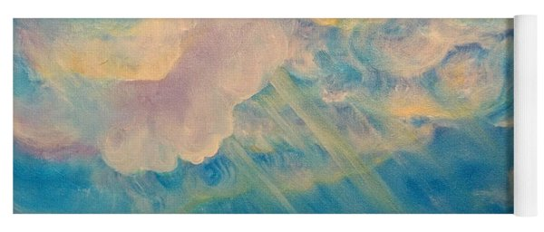 Above The Sun Splashed Clouds Yoga Mat