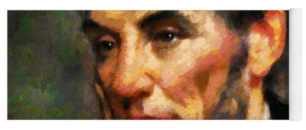 Abraham Lincoln - Abstract Realism Yoga Mat