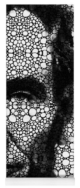 Abraham Lincoln - An American President Stone Rock'd Art Print Yoga Mat