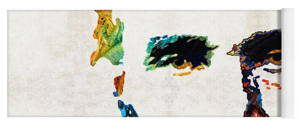 Abraham Lincoln Art - Colorful Abe - By Sharon Cummings Yoga Mat