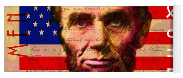 Abraham Lincoln Gettysburg Address All Men Are Created Equal 20140211 Yoga Mat