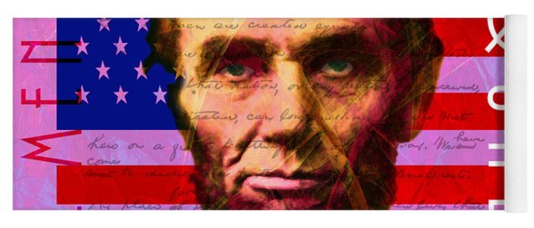 Abraham Lincoln Gettysburg Address All Men Are Created Equal 20140211m88 Yoga Mat