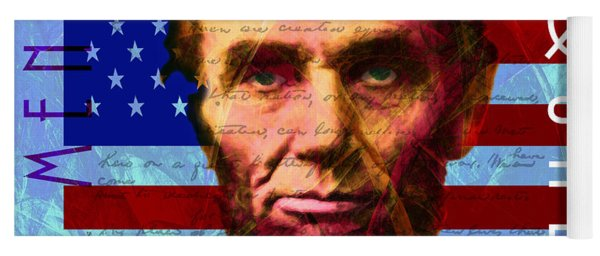 Abraham Lincoln Gettysburg Address All Men Are Created Equal 20140211p180 Yoga Mat