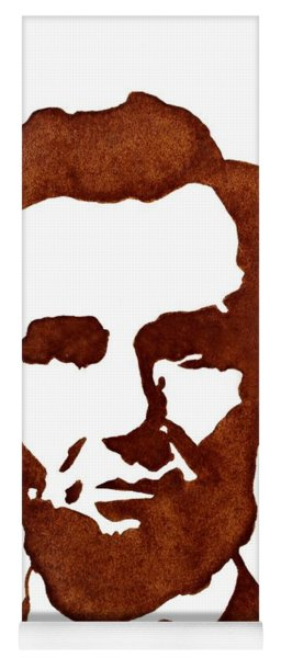 Abraham Lincoln Original Coffee Painting Yoga Mat