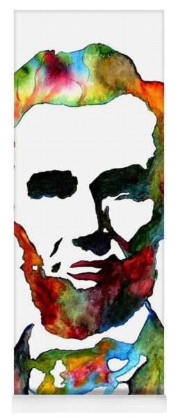 Abraham Lincoln Original Watercolor  Yoga Mat