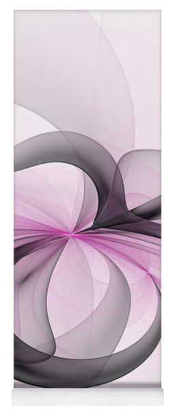 Abstract Art Fractal With Pink Yoga Mat