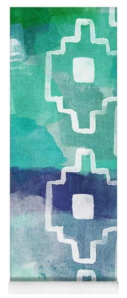 Abstract Aztec- Contemporary Abstract Painting Yoga Mat