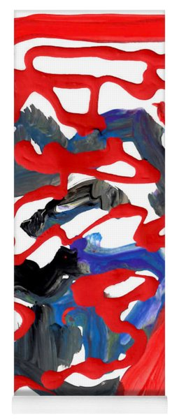 Abstract Blood Cover Up Yoga Mat