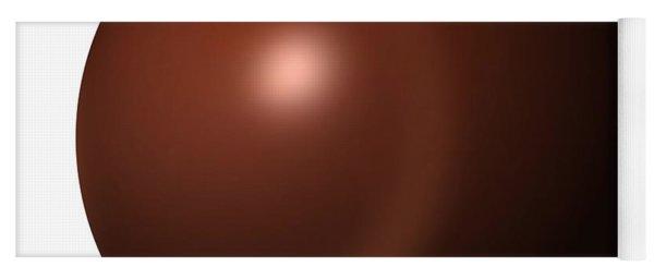 Abstract Brown Globe Yoga Mat