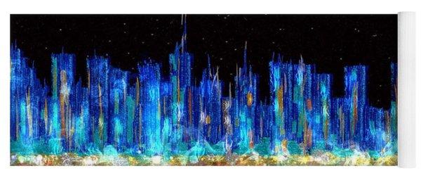 Abstract City Skyline Yoga Mat