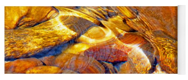 Abstract Creek Water 4 Yoga Mat