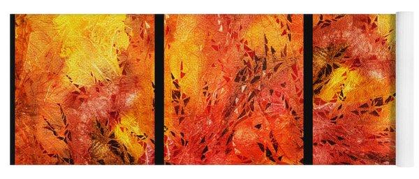 Abstract Fireplace Yoga Mat