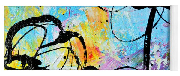 Abstract Flowers Silhouette 6 Yoga Mat