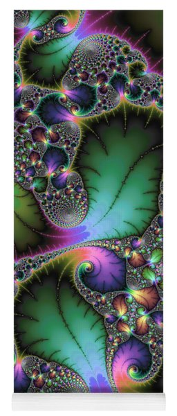 Abstract Fractal Art With Jewel Colors Yoga Mat