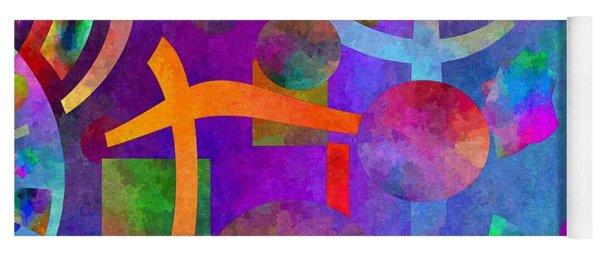 Abstract Fractillious - Episode One  Southwestern Yoga Mat