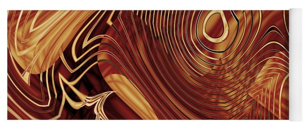 Abstract Gold 3 Yoga Mat