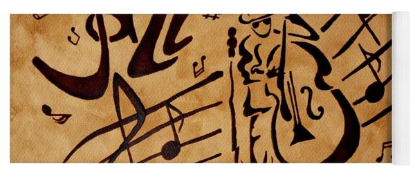 Abstract Jazz Music Coffee Painting Yoga Mat