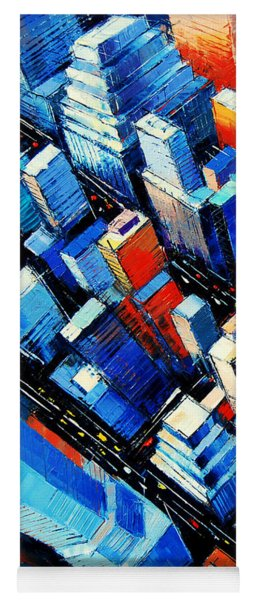 Abstract New York Sky View Yoga Mat