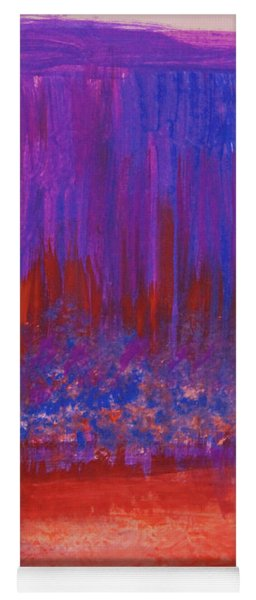 Abstract Purple And City Lights Yoga Mat