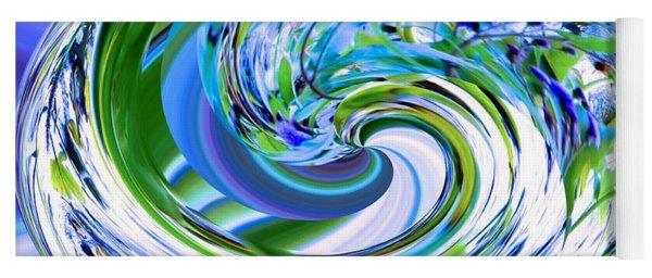 Abstract Reflections Digital Art #3 Yoga Mat