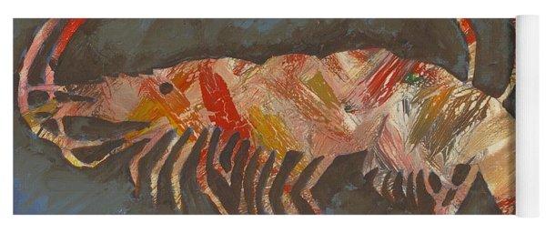 Abstract Shrimp Yoga Mat