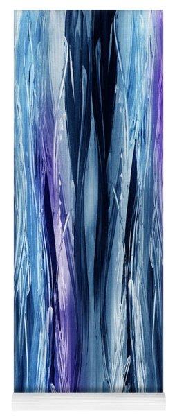 Abstract Waterfall Purple Flow Yoga Mat