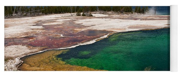 Abyss Pool And Yellowstone Lake Yoga Mat