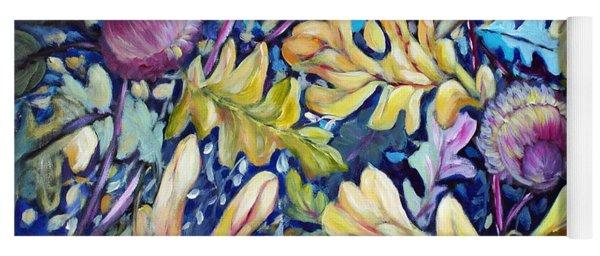 Acorns And Oak Leaves Yoga Mat